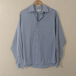 YSL Men's Button Up Vertical Striped Dress Shirt L